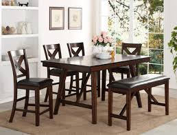 Vernon Pub Table, 4 Chairs, Bench