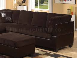 Chocolate Corduroy Sectional Sofa by Connell Sectional Sofa In Chocolate U0026 Espresso By Acme