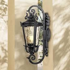 casa marseille 21 1 2 high black outdoor wall light t6227
