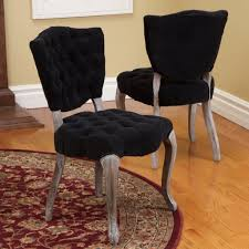 Dining Room Rustic Black Tufted Chair Cover