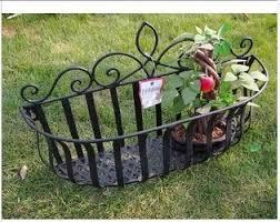 Metal Bucket Iron Flower Baskets Hanging Basket Pots Rustic Large Flowers Planters Wall Shelf Plants Pot