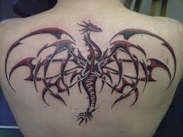 Tribal Dragon Tattoo By TribalDragon911