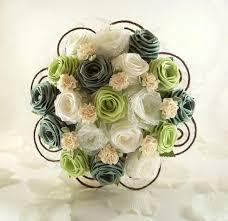 Green Fields Wedding Bouquet Bridal Bouquet Rustic Wedding