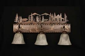 Cabin Vanity Lights Awesome Mountain Top Furniture Inside 13