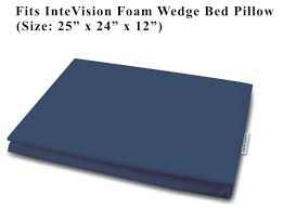 amazon com intevision foam wedge bed pillow 25 x 24 x 12