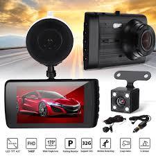 100 Dash Cameras For Trucks Universal Dual Lens Car Camera HD 1440P Vehicle DVR HD LED