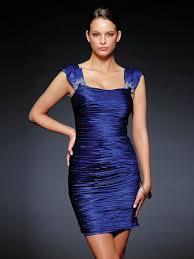 stunning square neck short sheath dark royal blue stretch