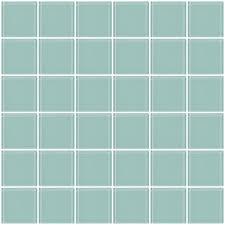 glass tile 2x2 inch light aqua blue glass tile