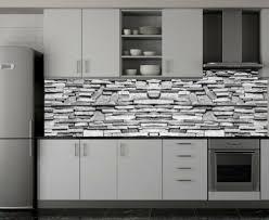 acrylglas küchenrückwand steinwand spritzschutz herd