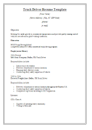 Sample Resume For Truck Driver With No Experience Tier Brianhenry Co Examples Ideas