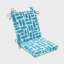 Baja Turquoise Squared Corners Outdoor Chair Cushion Blue ...