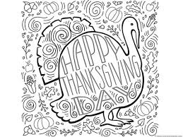 Thanskgiving Turkey Doodle Coloring Page