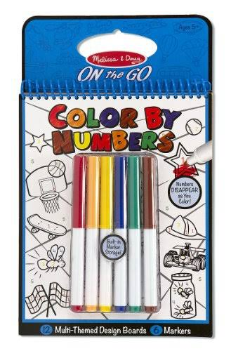 Melissa & Doug On the Go Color by Numbers Coloring Book - Blue