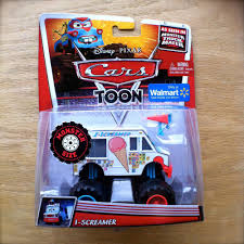 Disney PIXAR Cars TOON I-SCREAMER Diecast MONSTER TRUCK MATER Ice ...