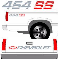 CHEVROLET SS Tailgate Truck Lettering + (2) 454 SS Vehicle Vinyl ...