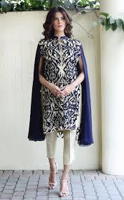 latest pakistani cape style dresses 2016 2017 designer collection