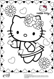 Hello Kitty Christmas Colouring Pages Print Valentine Coloring Halloween Printables Sheets Printable