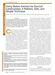 si e orthop ique suture anchors for cervical pdf available