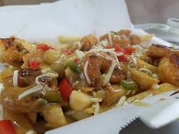 100 Vegetarian Food Truck Come Get You Some Shrimp Poutine The Flaming Fish