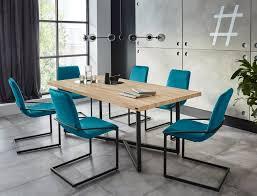 inosign essgruppe domitus set 7 tlg aus holzwerkstoff bestehend aus claudell esstisch und 6 napea stühlen kaufen otto