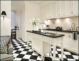 black and white tile floor kitchen carpet flooring ideas