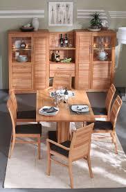 komplettes esszimmer 8teilig mit wohnwand esstisch 170x95 4x esszimmerstuhl und 2x armlehnstuhl casade mobila