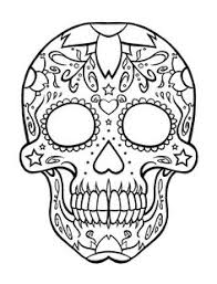 Free Skulls Day Of The Dead Coloring Pages