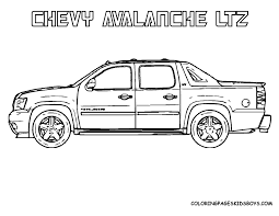Chevy Car Coloring Pages
