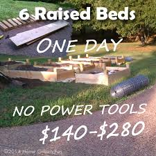THE GOAL Build 3 6 Simple Raised Beds IN ONE DAY Without Power Tools Or A Truck Another Human To Help