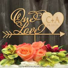 Wedding Cake Toppers Personalized Topper One Love
