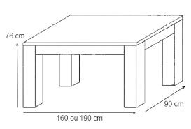 mobilier maison table a manger dimension 9 jpg