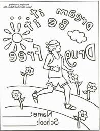 Red Ribbon Week 2012 Printable Coloring Pages With