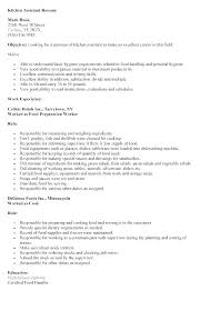 Kitchen Hand Resume Sample Cook Supervisor Best Collection