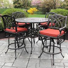 wicker bar height patio set royal outdoor wicker pub table with bar stools 5 set within