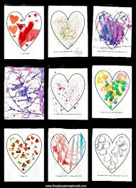 Easy Heart Art Projects For Preschool And Toddlers Great Valentines Day