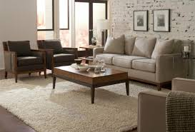 Rustic Style Living Room With Comfortable Ethan Allen Sofa And