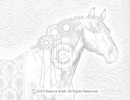 Bling Horse Coloring Page Show Warmblood Blue Ribbon Winner