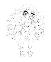 Cute Girl Coloring Pages Anime Little