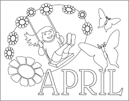 April Coloring Pages Fiuh After A Week Finally I Can Fill Out An Articles For This Blog Days What Do You Think About Mop The