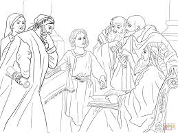 Click The Boy Jesus In Temple Coloring Pages