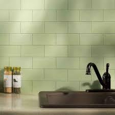 simple kitchen ideas with green olive subway peel stick backsplash
