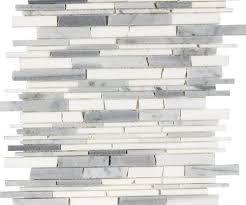 carrara marble mosaic tile backsplash home design ideas