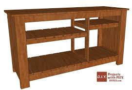 make a wood tv console diy pete