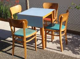 Retro Vintage Formica Folding Kitchen Table Chairs 50s 60s