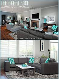 grey white and turquoise living room a runaway muse project spotlight character home up do our