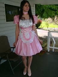 Crossdressed For Halloween by Pink Sissy Dress By Blue Sky Jen On Deviantart