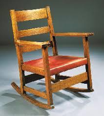 an oak l j g stickley rocking chair model no 803 christie s