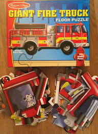 100 Melissa And Doug Fire Truck Puzzle Giant Floor J643 EBay