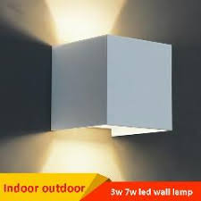 7w led indoor wall l surface mounted cube led wall light white