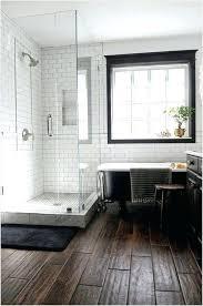 Floor Tiles Bathroom Modern Looks White Rustic Black Tile Ideas Wood